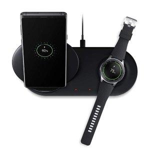 $49.99 手机 手表同时充限今天:Samsung 最新款双充电位 无线充电器