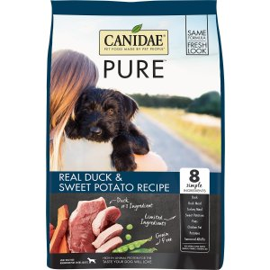 $45.49CANIDAE Pure高级无谷物狗粮 鸭肉味 24磅