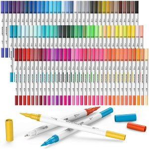 Mogyann 100 Colors Dual Tip Brush Markers