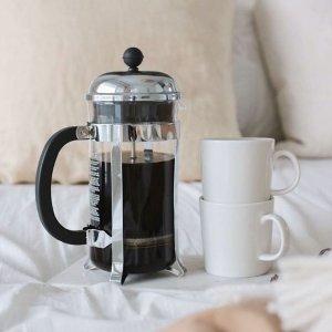 €12.9 可做3人份Bodum 丹麦网红人气法压壶 简单快捷 自制香浓咖啡
