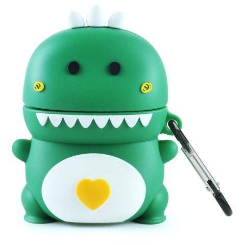 Maxjoy Airpods Case 2&1 Cute 3D Dinosaur Cartoon Design Premium Silicone Protective Cover
