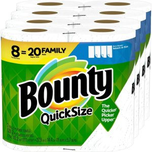 $15.42Bounty Quick-Size Paper Towels, White, 8 Family Rolls