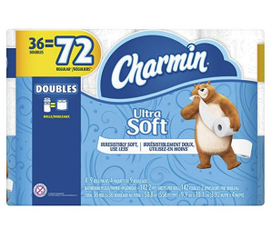 $16.49(原价$26.2)Charmin 柔软厕纸36卷超大卷(相当于普通72卷)
