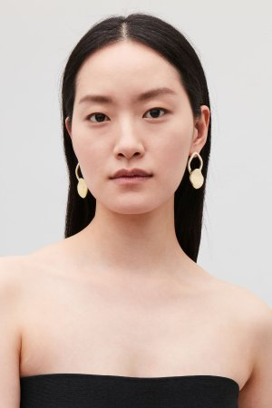 GOLD-PLATED DROP EARRINGS - Gold - Jewellery - COS