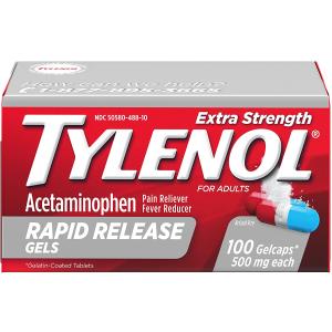 低至$6.48泰诺强效退烧止痛药 含对乙酰氨基酚