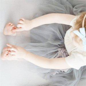 L码Bluish 宝宝 花瓣蓬蓬纱裙