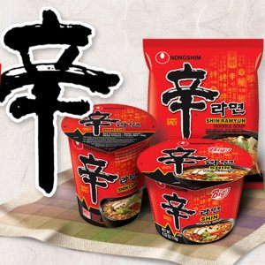 $4.57 快手拉面仅需3分钟Nongshim农心 辣海鲜辛拉面、经典辛拉面 4袋装 比超市便宜