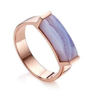 Monica VinaderLinear 紫色石头戒指