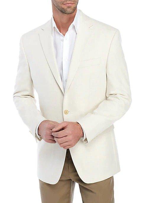 Ivory Solid Stretch 西装外套