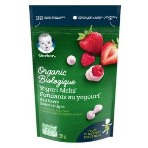 现价$22.14(原价$27.86)Gerber 宝宝零食 有机酸奶草莓溶豆 7x28g 健康低卡小零食