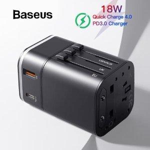 $14.99包邮Baseus All in one 18W  多合一 旅行充电器