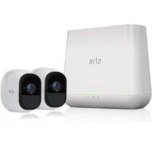 Arlo Pro 1080p 家庭无线安防系统 2×摄像头套装 翻新