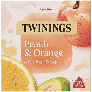 Twinings白桃橙子茶 20包