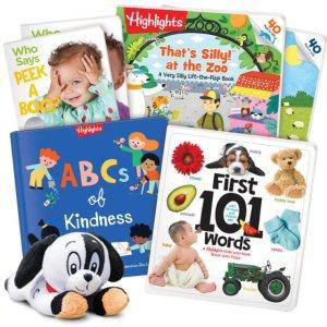 立减$10独家:Highlight 婴幼儿图书礼盒 附送狗狗公仔