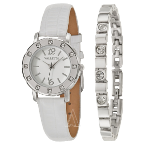 Extra 20% Off VALLETTA Crystal  Women's Watches 3 styles @ Ashford