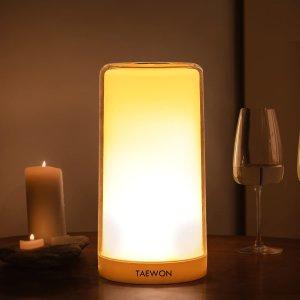 $17.49(原价$39.99)TAEWON 可变色 LED护眼台灯/床头灯/氛围灯 触控式面板