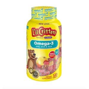 低至$8.73L'il Critters 小熊糖儿童综合维生素、益生菌、钙软糖等热卖