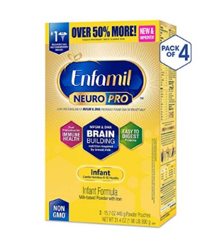 $119.97Enfamil NeuroPro 金樽婴儿奶粉, 31.4 盎司,4盒