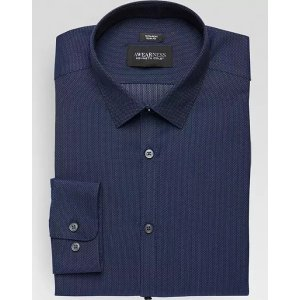 3 for $99.99Awearness Kenneth Cole Navy Tic Slim Fit Dress Shirt - Men's Slim Fit | Men's Wearhouse