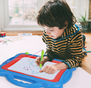 $8NextX Magnetic Drawing Board Write and Learn Creative Toy (Blue-Red)