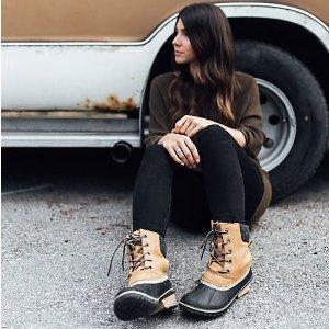 低至4.5折+会员包邮Sorel官网 男女户外防寒靴折上折