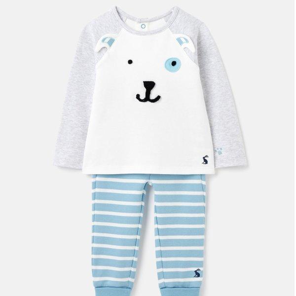 婴儿有机棉小狗套装