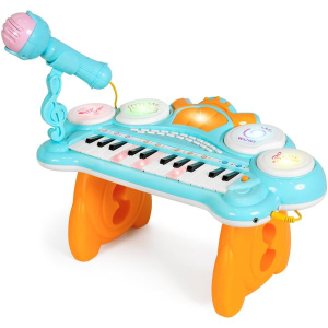 Dealmoon Exclusive! $23.99 + Free Shipping24-Key Kids Musical Electronic Keyboard w/ Drums, Microphone, MP3