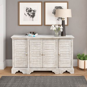$349Home Meridian 四门实木装饰收纳柜 多色可选