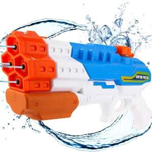 $10.99(原价$16.99)史低价:Biulotter 大容量儿童水枪 长达32英尺射程