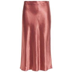 VINCE.Crinkled-satin skirt