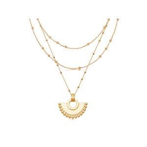Missoma金色扇形项链