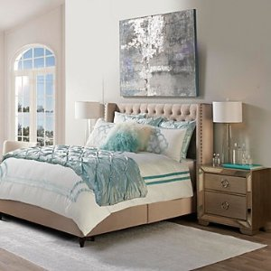 Chloe Bedding - Celeste | Roberto Chloe Bedroom Inspiration | Bedroom | Inspiration | Z Gallerie
