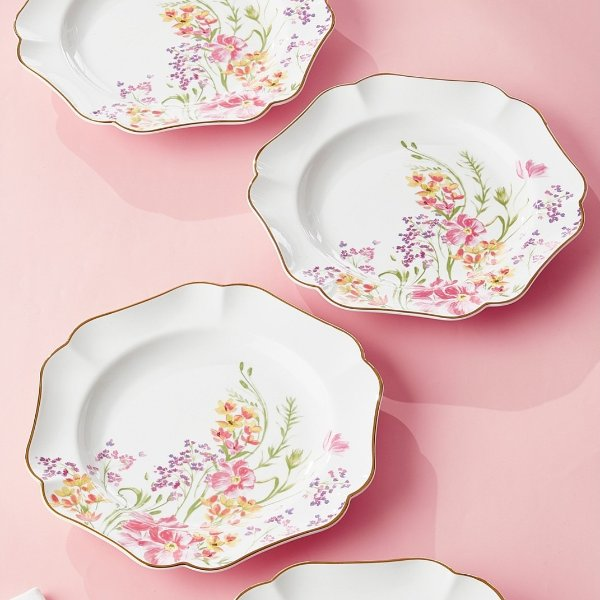 花朵餐盘4个