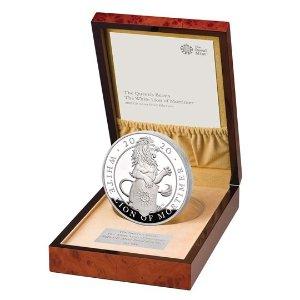 The Royal Mint莫蒂默白狮纪念币 全球限量85枚
