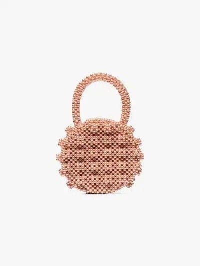 粉色小圆珍珠包