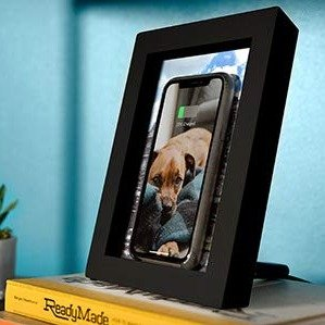 Twelve South PowerPic Picture Frame Stand with integrated 10W Qi Charger