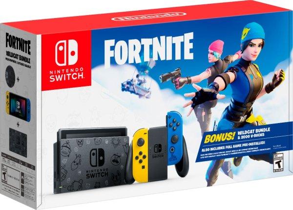 Nintendo Switch 堡垒之夜主题配色 游戏主机