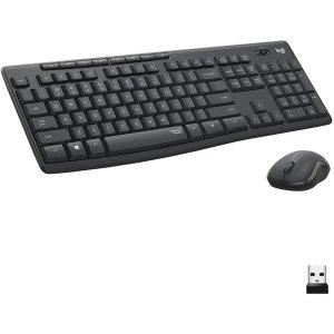 $34.99(原价$45.99)史低价:Logitech MK295 静音无线键盘鼠标套装