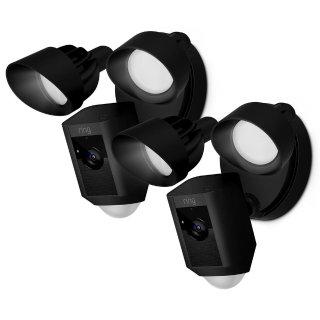 2个$348,3个$485Ring 1080p 室外安防摄像头 带探照灯