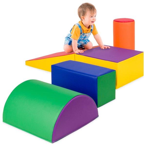 婴幼儿几何图形泡沫活动方块5件套