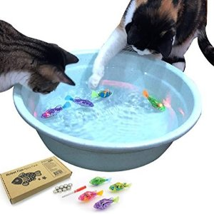 BlackHole Litter Mat Interactive Swimming Robot Fish Toy for Cat/Dog