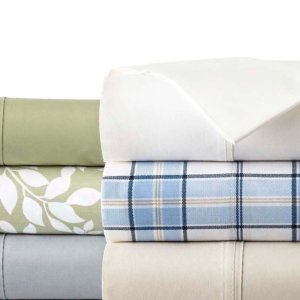 Easy Care Solid and Print Queen Pillowcases