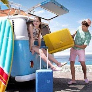 5折 活泼糖果色,静音万向轮季中大促:American Tourister 轻便行李箱