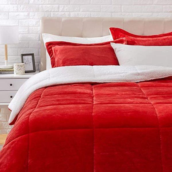 大红色床品3件套