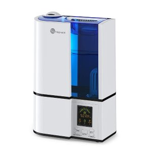TaoTronics TT-AH001 Cool Mist Ultrasonic Humidifiers Quiet Operation, LED Display, 360° Nozzle, Waterless Auto Shut-Off 4L