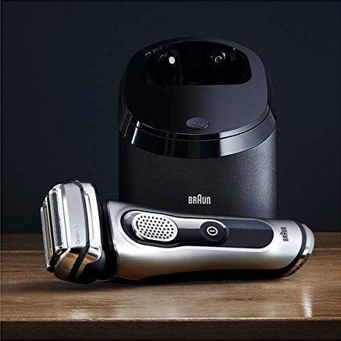 旗舰9系 9290CC 干湿两用电动剃须刀+自动清洁充电底座