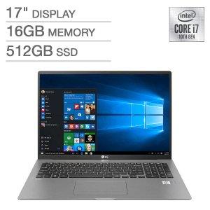 LG gram 17Z90N Laptop (i7-1065G7, 16GB, 512GB)