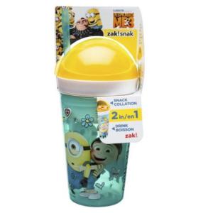 清仓价$5(原价$8.97)Zak Designs 儿童零食吸管水杯