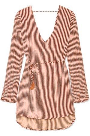 Faithfull The Brand Apart striped voile mini dress