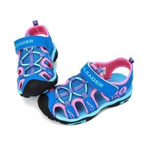 3.5折史低价:ALEADER 儿童包趾凉鞋,魔术贴设计更好穿脱